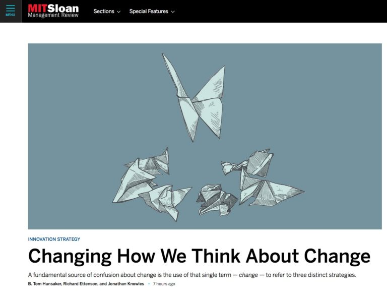 Changing how we think about change